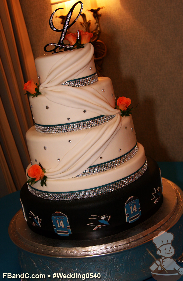 Wedding Cakes San Jose  Design W 0540 Fondant Cover Wedding Cake