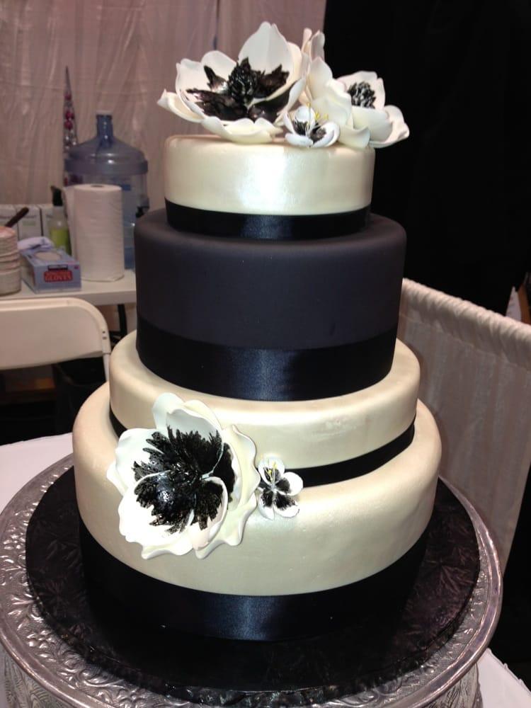 Wedding Cakes San Jose  Black and white wedding cake San Jose