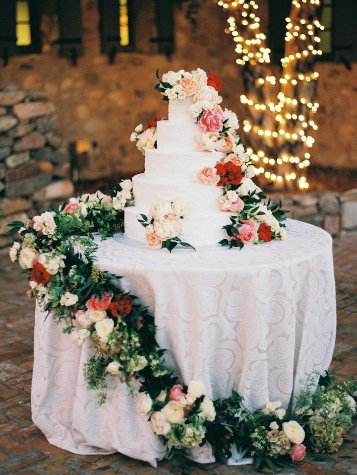 Wedding Cakes Scottsdale  Romantic Al Fresco Scottsdale Wedding MODwedding