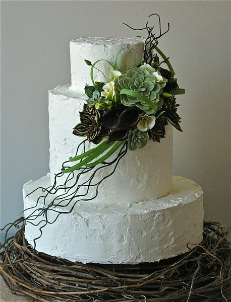 Wedding Cakes Seattle  Rustic Bird Nest Cake Seattle wedding cake