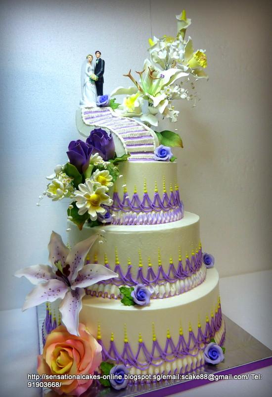 Wedding Cakes Sg  Cakes2 Singapore 3 TIERED WEDDING CAKE SINGAPORE
