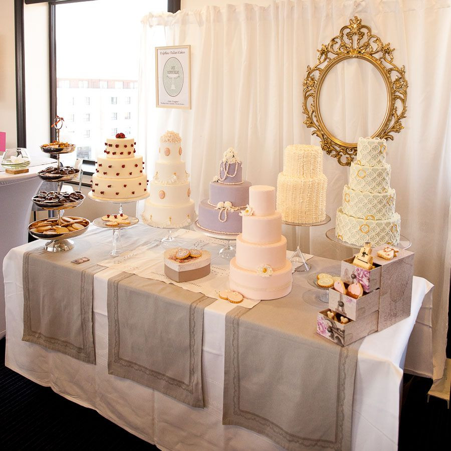 Wedding Cakes Show  french baker s wedding cake selection display