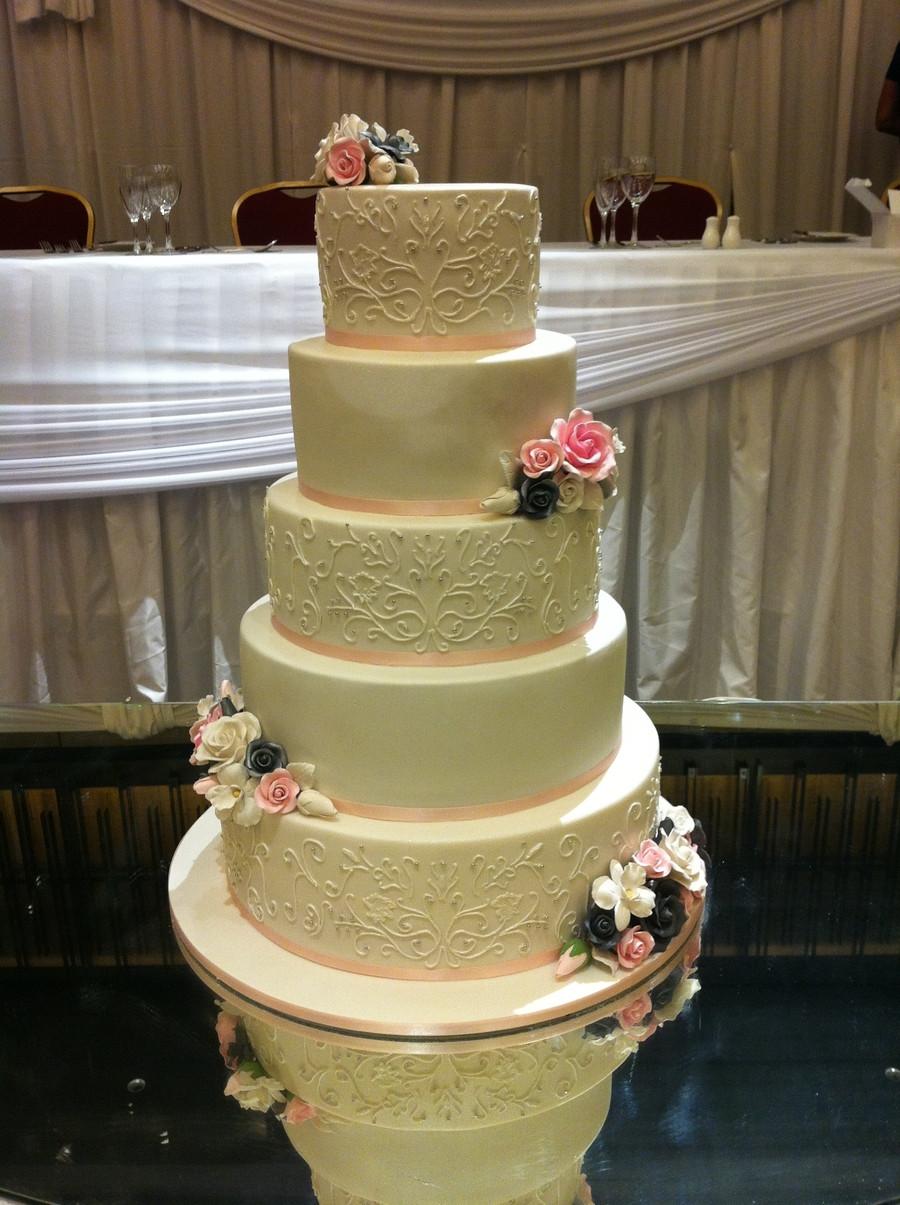 Wedding Cakes Singapore  The Sensational Cakes HAND PAINTED ROYAL ICING DESIGNED