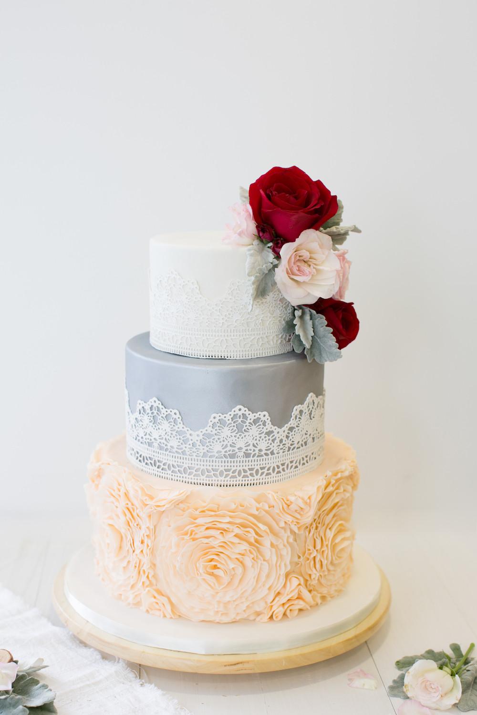 Wedding Cakes Singapore  Floral Series Customised Cakes Baker s Brew Studio