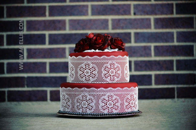 Wedding Cakes Sioux Falls Sd  Red Lace Wedding Cake The Cake Lady Sioux Falls