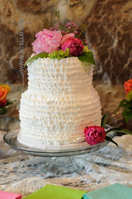 Wedding Cakes Sioux Falls Sd  Leigh and Alex's Sioux Falls Ruffle Wedding Cake The