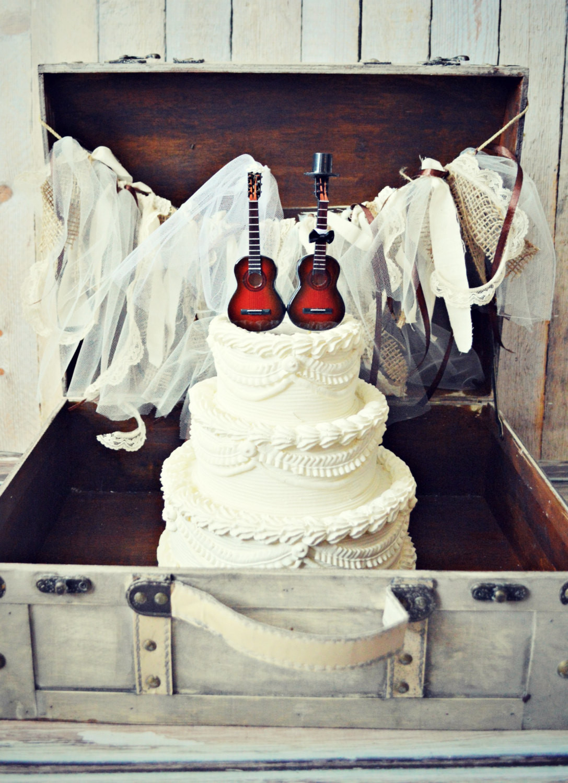 Wedding Cakes Songs  Music guitar wedding cake topper instrument music
