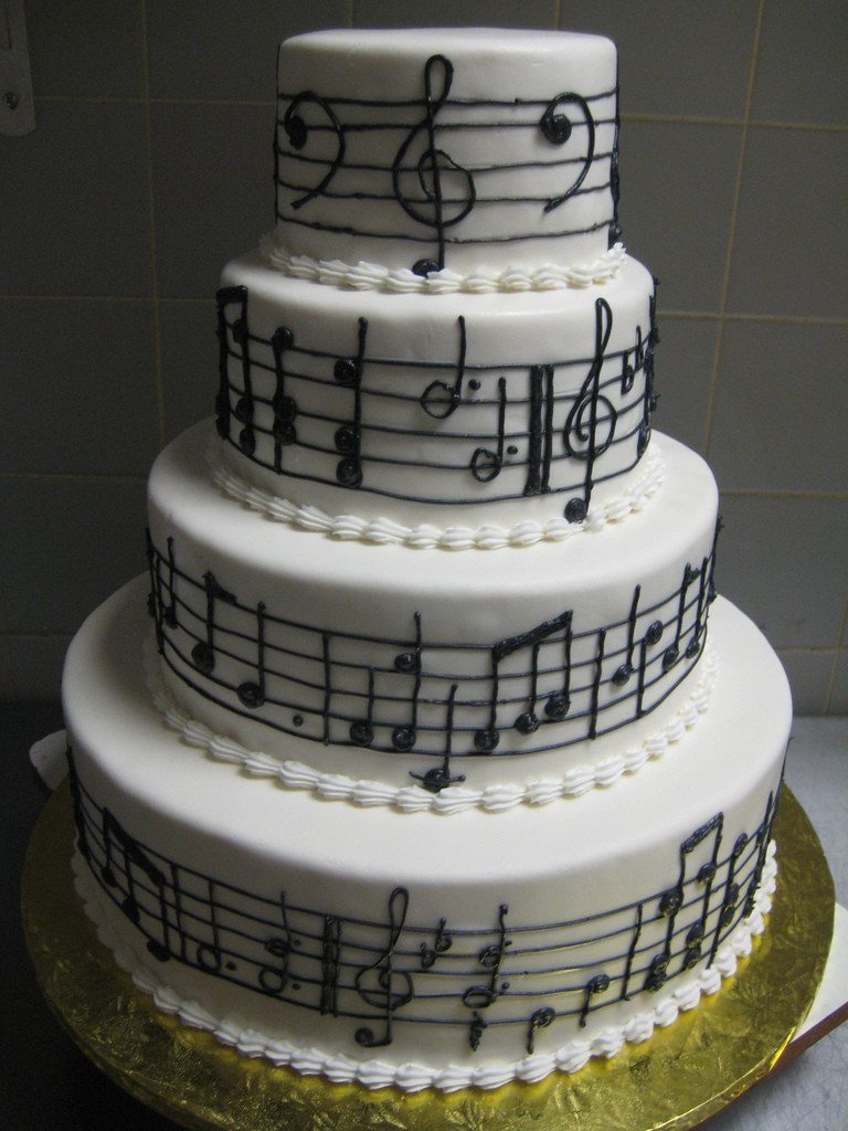 Wedding Cakes Songs  music notes wedding cake a photo on Flickriver