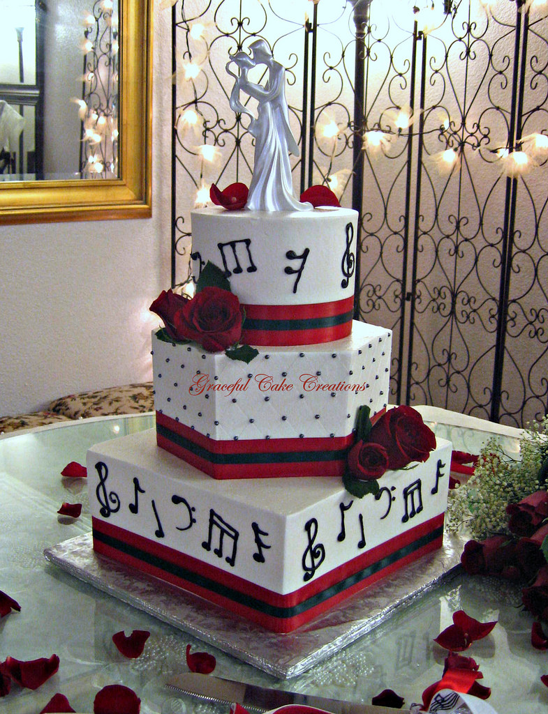 Wedding Cakes Songs  Musical Notes Wedding Cake a photo on Flickriver