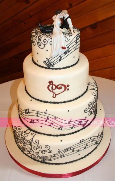 Wedding Cakes Songs  Music Lovers wedding cake Wedding Ideas