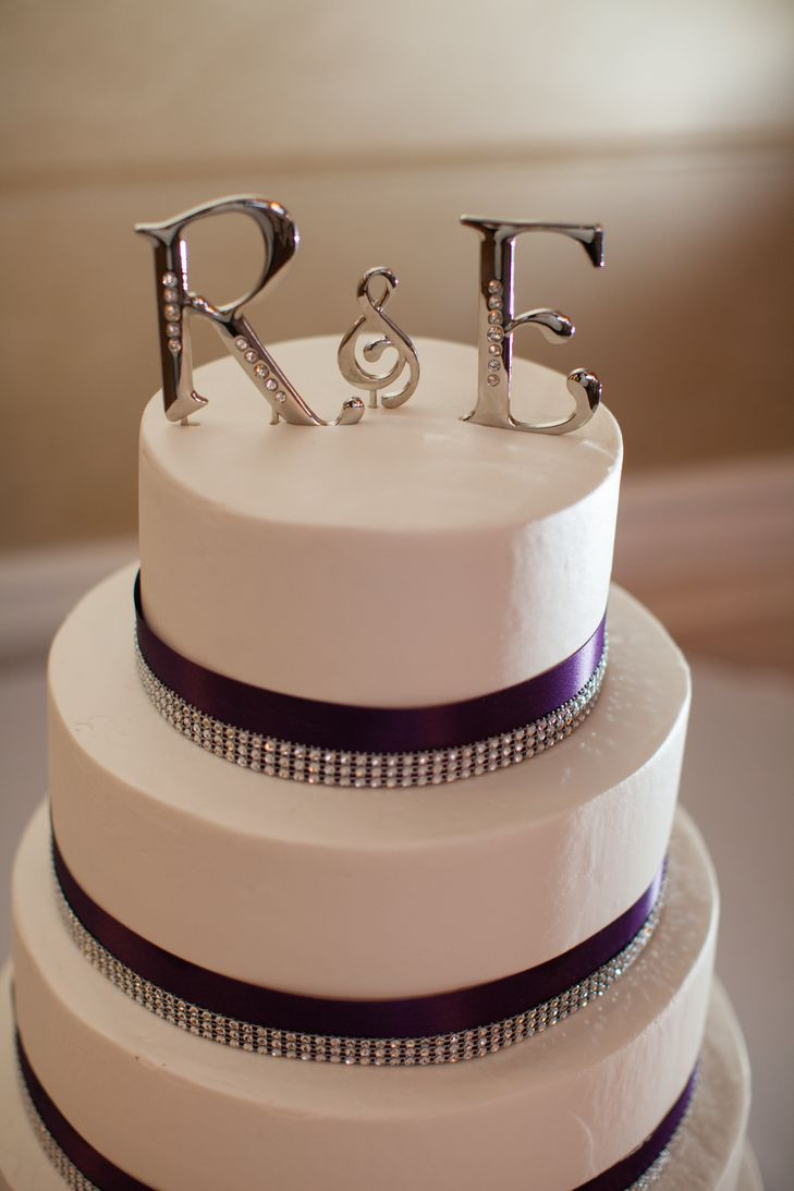 Wedding Cakes St Charles Mo  Silver Letter Cake Topper