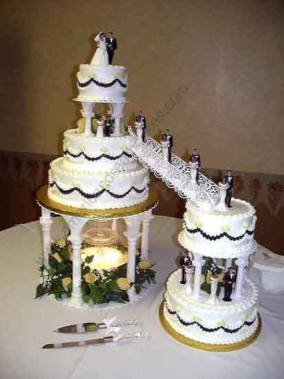 Wedding Cakes Stairs  Wedding Cakes With Fountains And Stairs