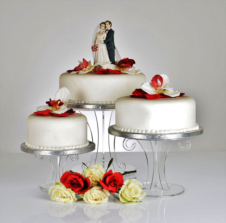 Wedding Cakes Stands  Scroll Design Clear Acrylic Wedding Cake Stand