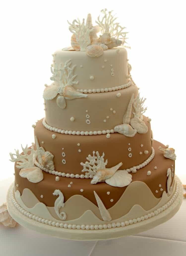 Wedding Cakes Theme  Beach Wedding Cake Ideas Destination Wedding Details