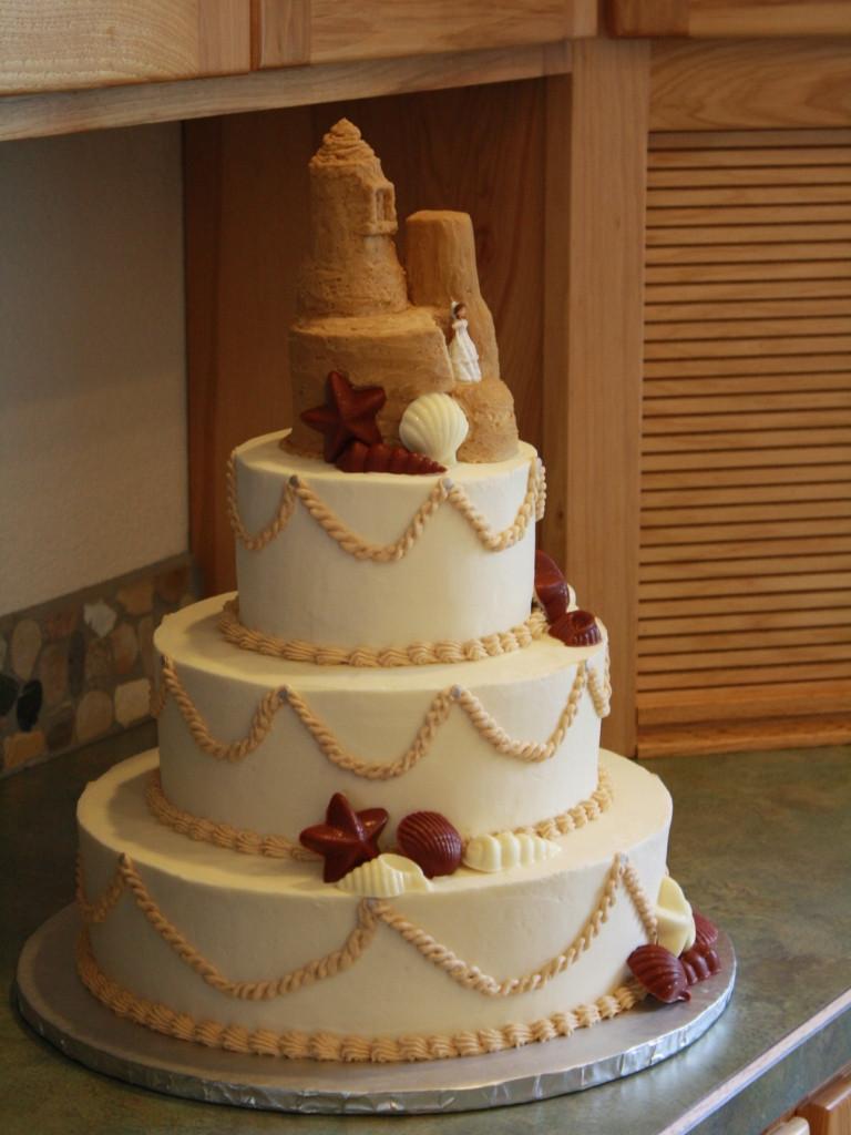 Wedding Cakes Theme  Party Cakes Beach Themed Wedding Cake