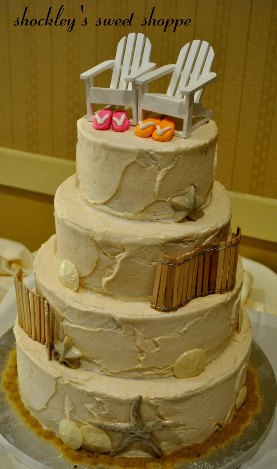 Wedding Cakes Theme  Raphaele s blog Beach Wedding Cake Tutorial