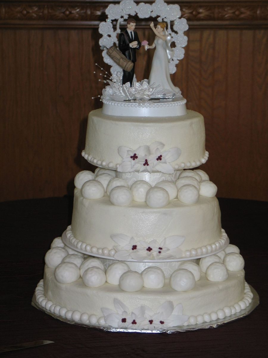 Wedding Cakes Theme  Golf Theme Wedding Cake CakeCentral