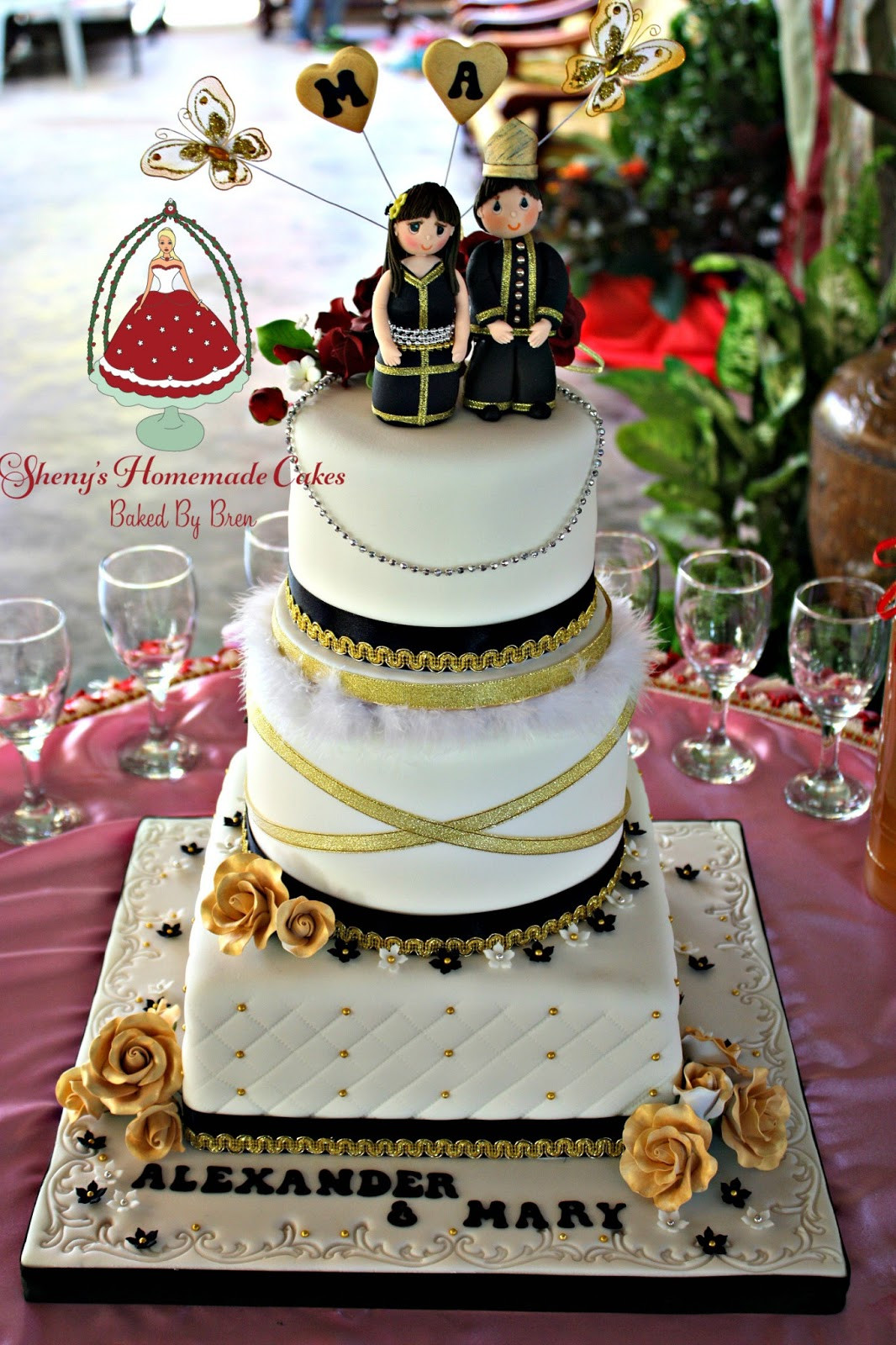 Wedding Cakes Theme  Sheny s Homemade Treats Traditional Kadazan Theme Wedding