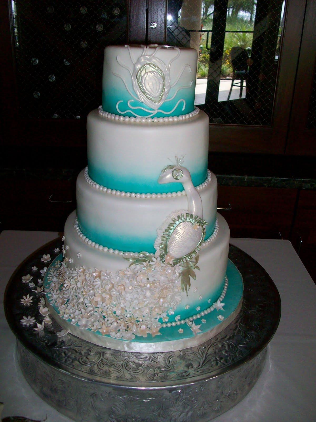 Wedding Cakes Theme  PEACOCK THEMED WEDDING CAKE
