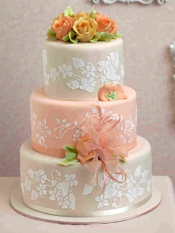 Wedding Cakes Three Tier  3 Tiers Wedding Cake
