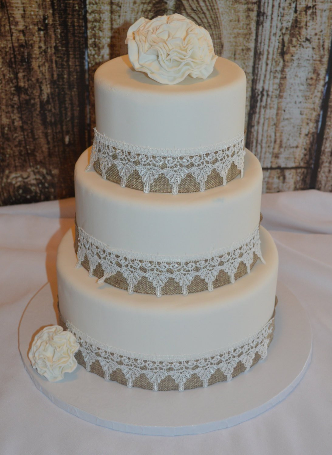 Wedding Cakes Three Tier  Three Tier Fondant Wedding Cake Fake Wedding Cake Faux
