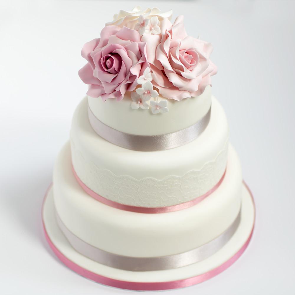 Wedding Cakes Three Tier  Victoria Sponge