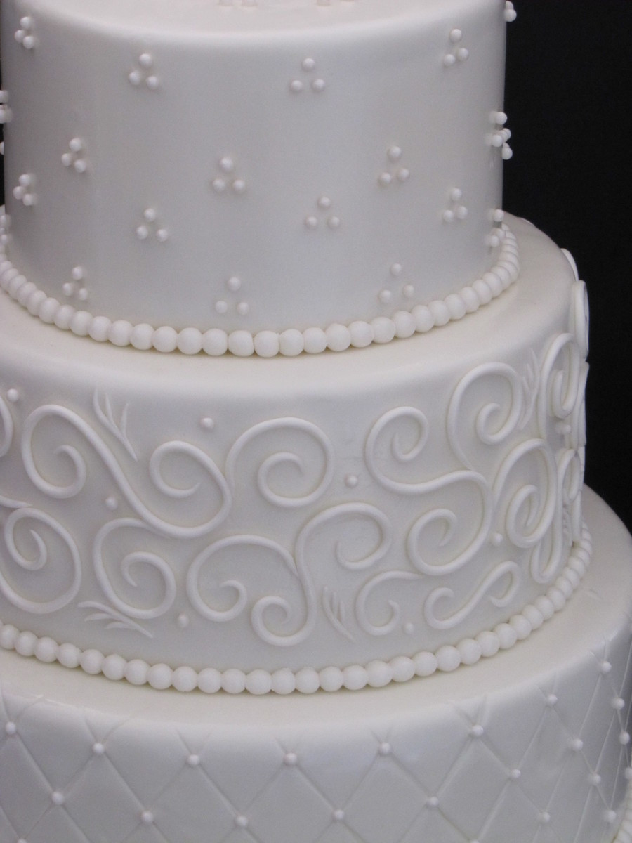 Wedding Cakes Three Tiers  Elegant Three Tier Wedding Cake CakeCentral