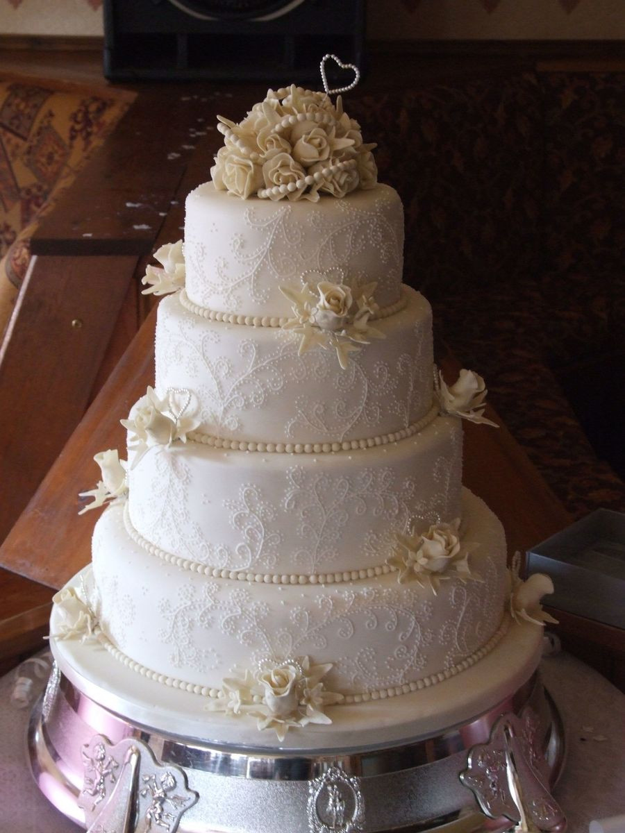 Wedding Cakes Tier  4 Tier Wedding Cake CakeCentral