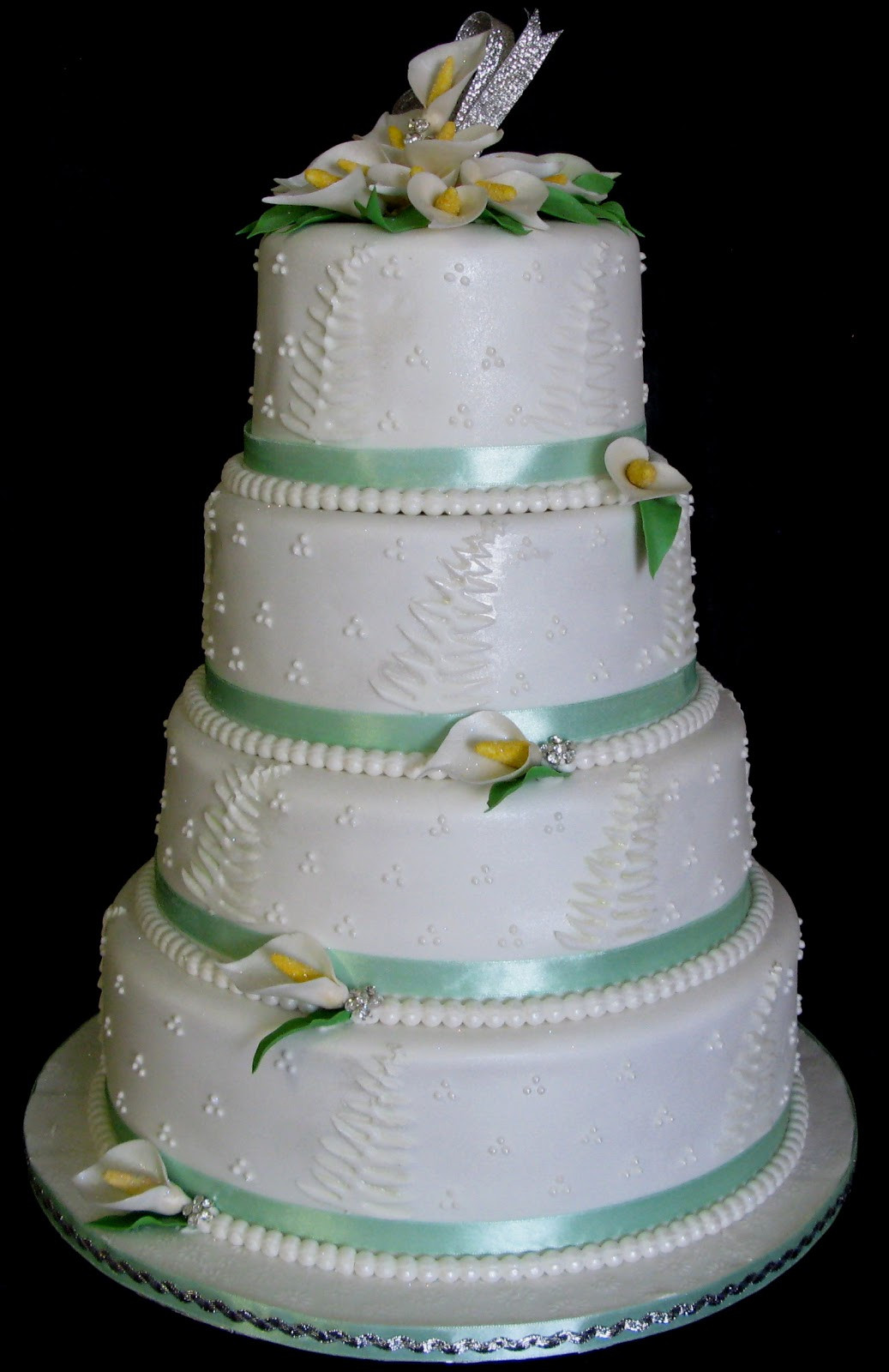 Wedding Cakes Tier  Sugarcraft by Soni Four Tier Wedding Cake Arum Lilies