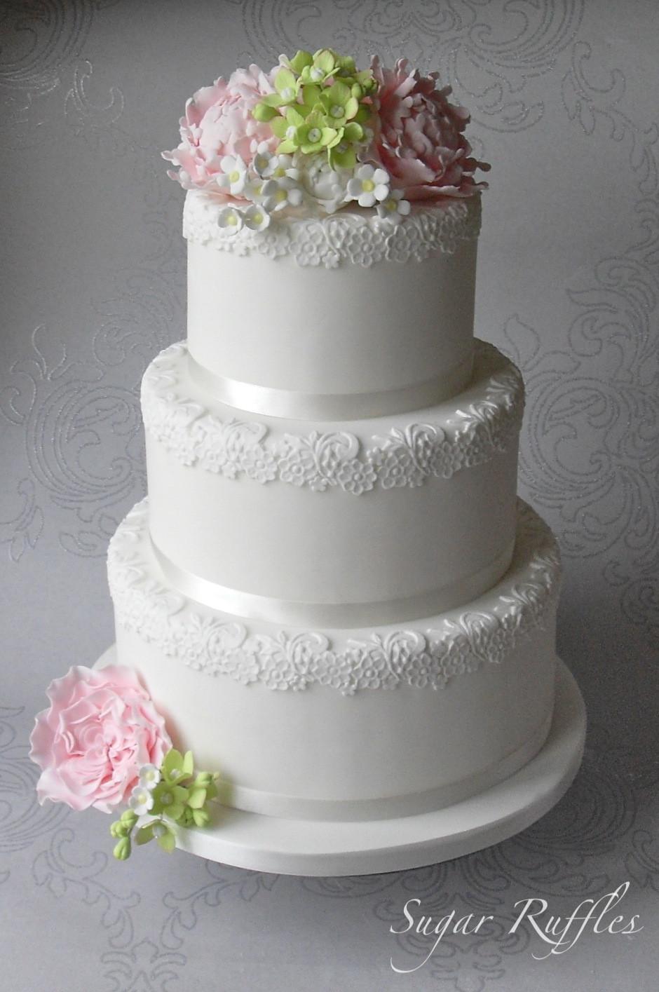 Wedding Cakes Tier  Floral Romance Wedding Cake