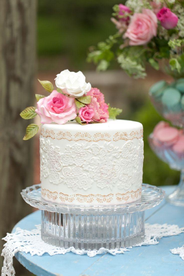 Wedding Cakes Tiered  16 Beauty Spring Flower Single Tier Wedding Cake – Cheap