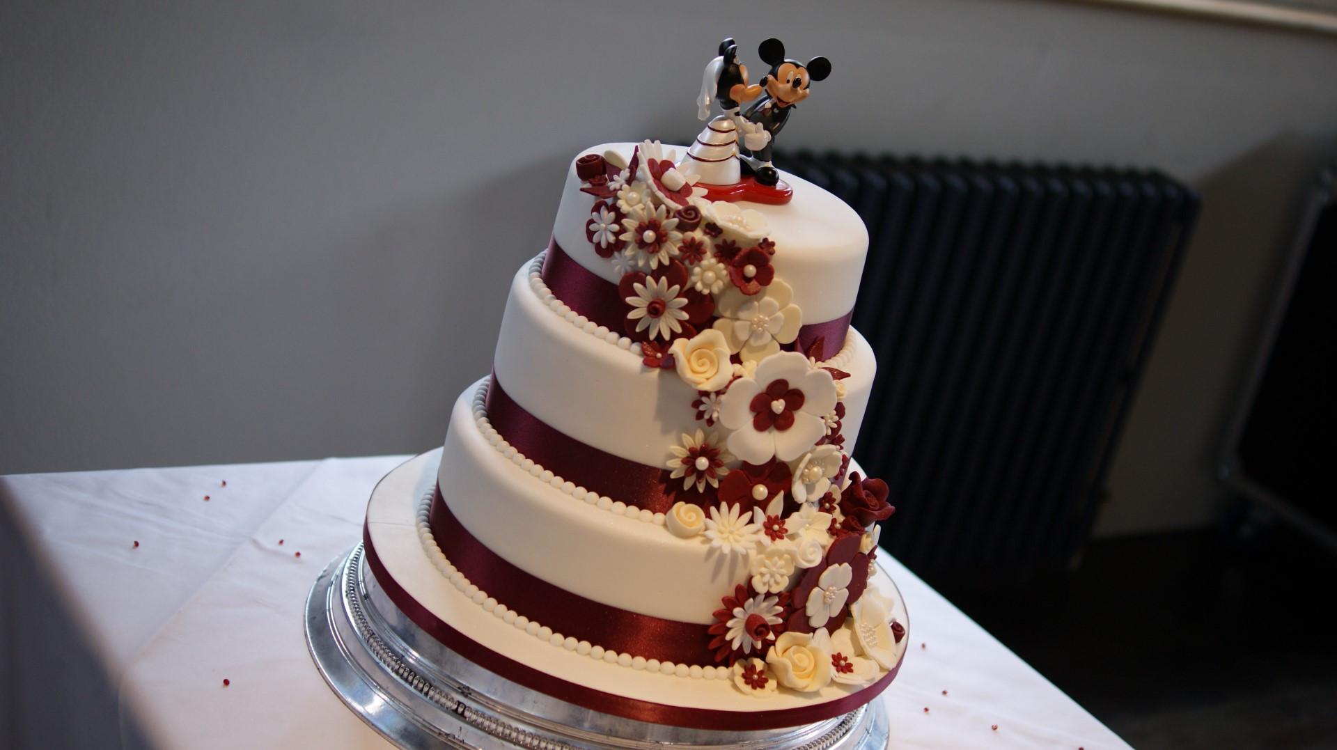 Wedding Cakes Tiered  Disney Theme 3 Tier Wedding Cake Bakealous