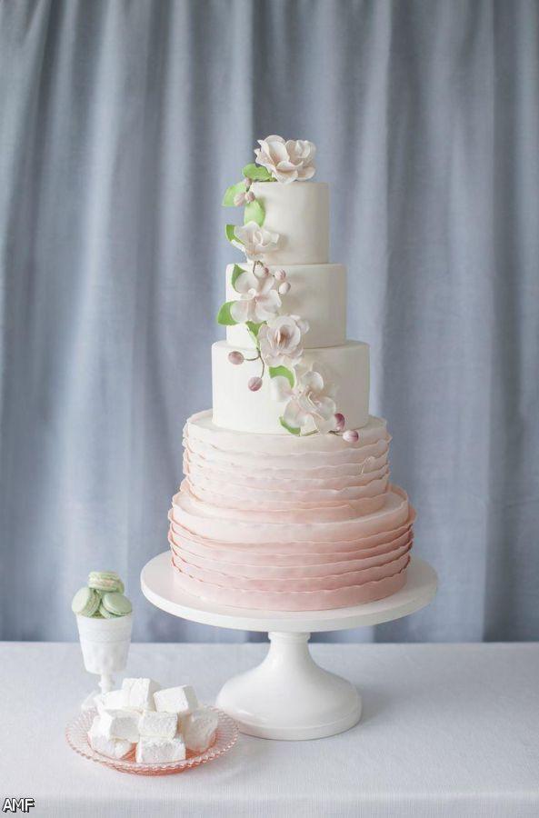 Wedding Cakes Trends 2015  Blush And Gold Wedding Cake 2015 2016