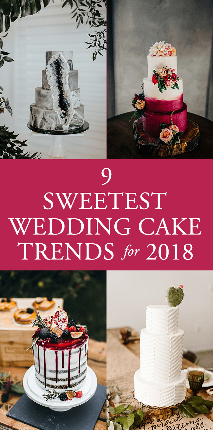 Wedding Cakes Trends  9 Sweetest Wedding Cake Trends for 2018