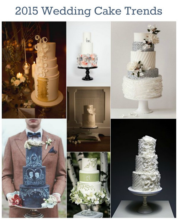 Wedding Cakes Trends  2015 Wedding Cake Trends