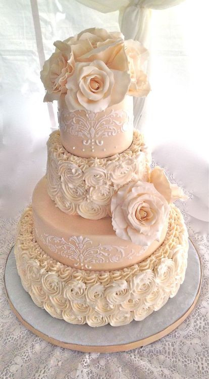 Wedding Cakes Tumblr  peach wedding cake