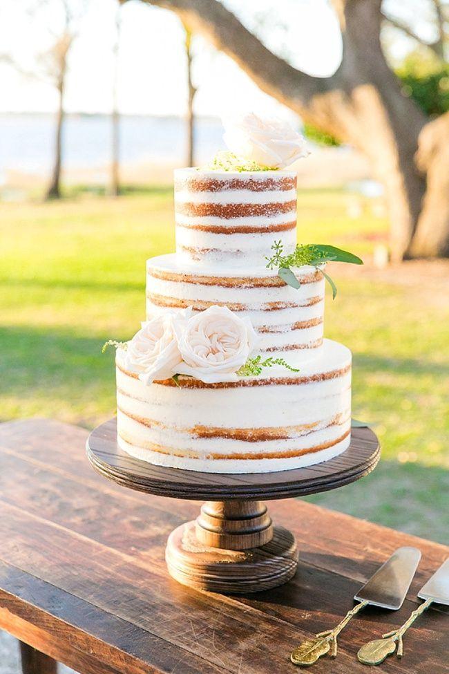 Wedding Cakes Tyler Tx  Jenn & Tyler s Naked Wedding Cake made by PPHG Pastry Chef