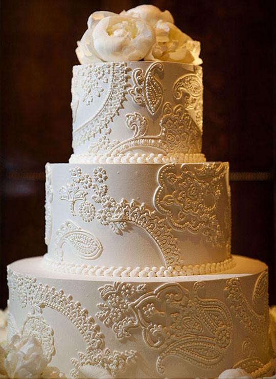 Wedding Cakes Vintage  Vintage Lace Wedding Cake