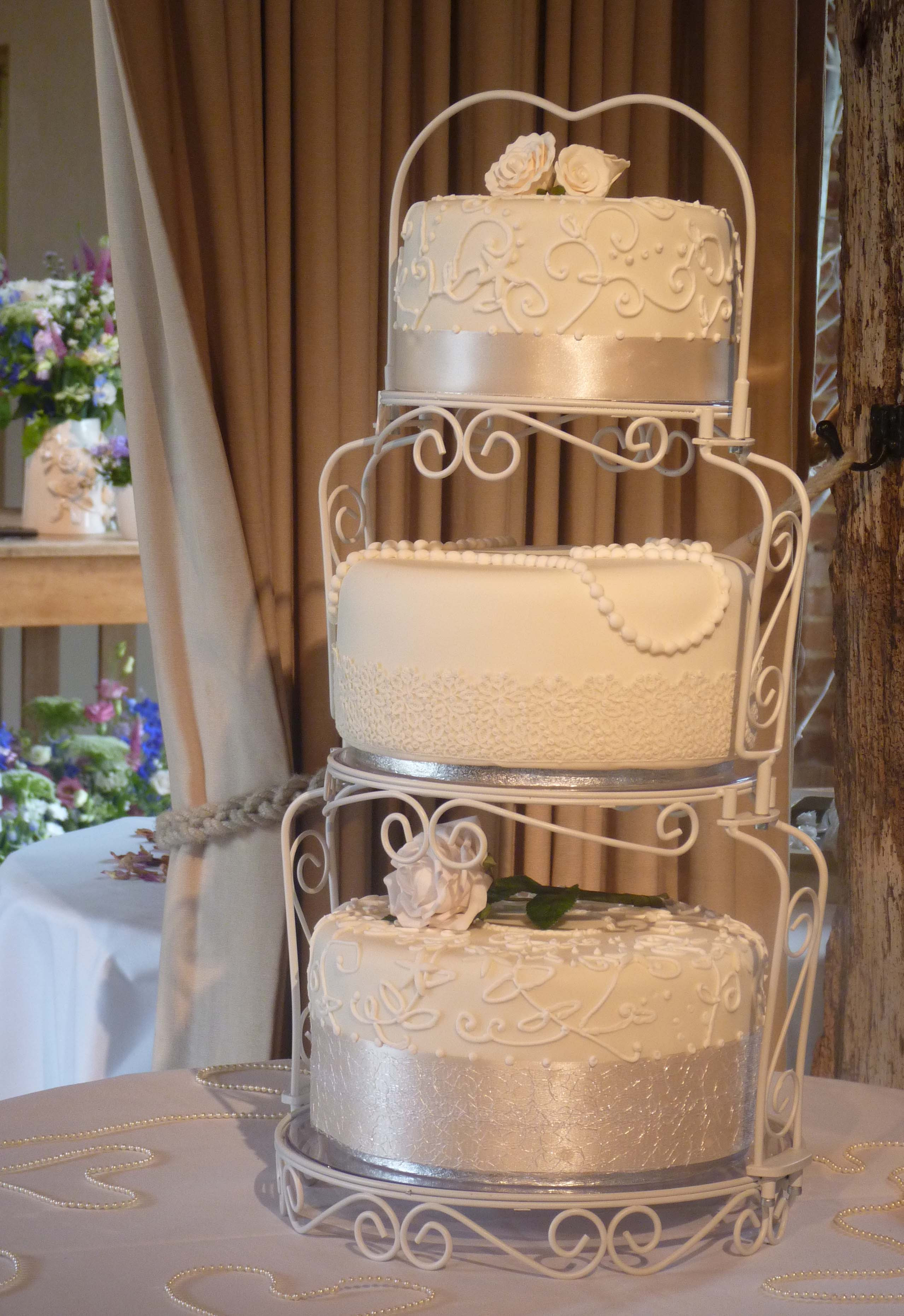 """Wedding Cakes Vintage  Vintage style """"Lace and Pearls"""" wedding cake – in the"""