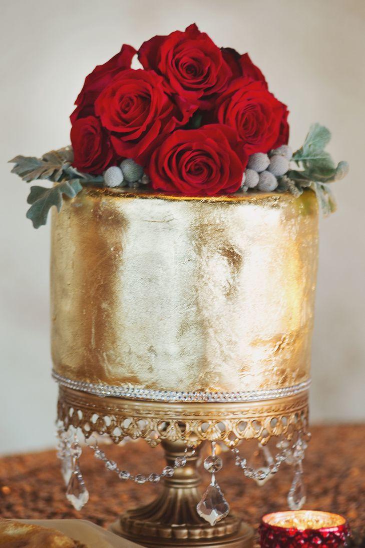 Wedding Cakes Waco Tx  Metallic Gold Wedding Cake in Waco Texas
