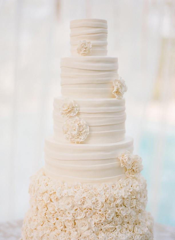 Wedding Cakes White  Lulu s Event Design Top Ten All White Wedding Cakes