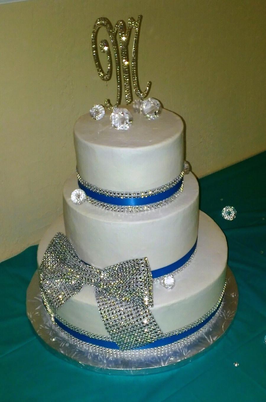 Wedding Cakes With Bling  Bling Bling Wedding Cake Wbling Bow CakeCentral