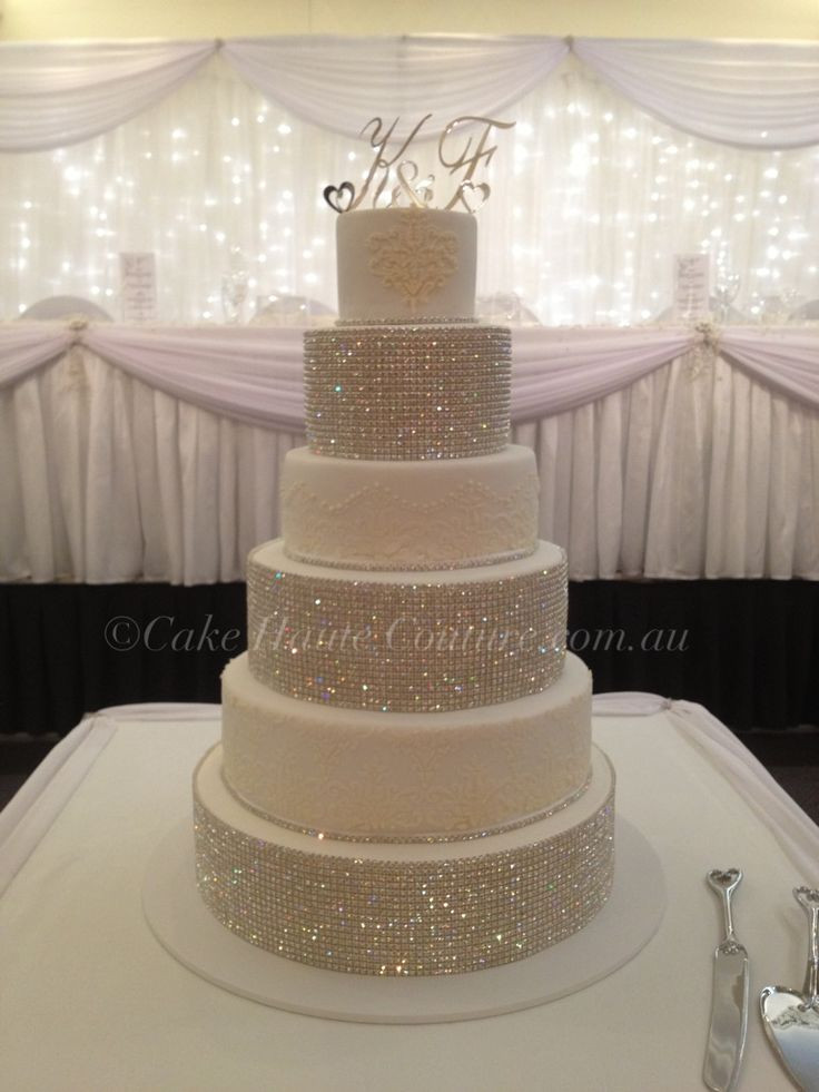 Wedding Cakes With Bling  17 Best images about Danielle s Wedding on Pinterest