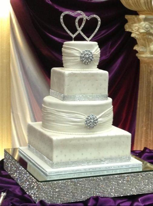 Wedding Cakes With Bling  A bling wedding cake Wedding Ideas Pinterest