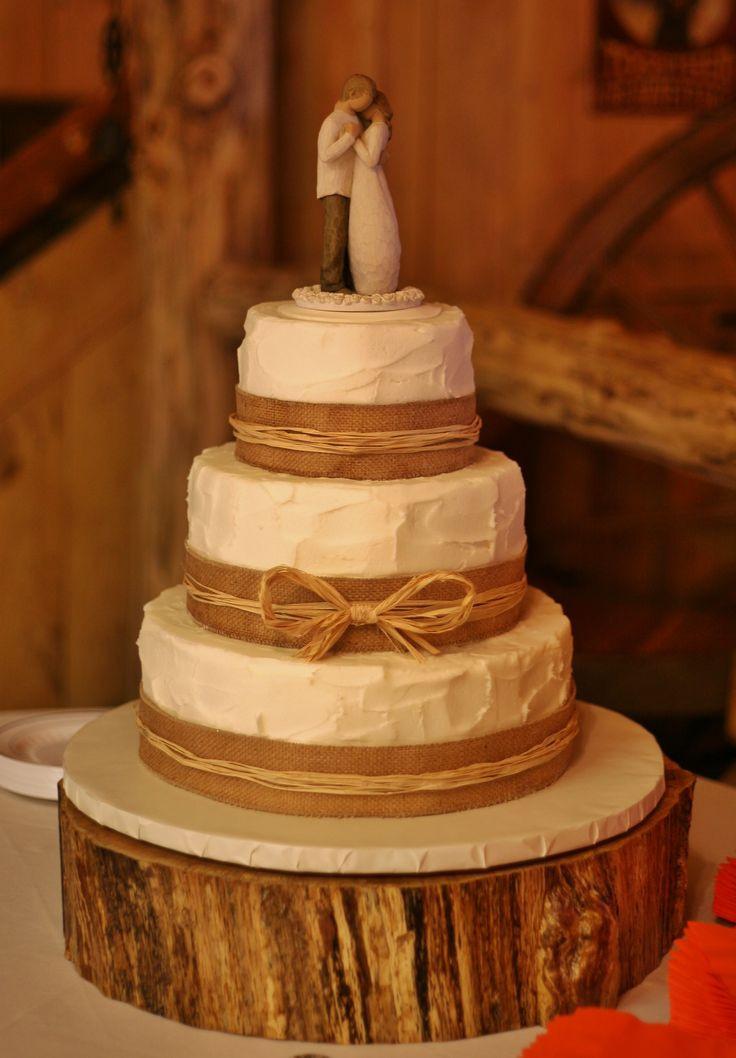 Wedding Cakes With Burlap Ribbon  The 25 best Ribbon wedding cakes ideas on Pinterest