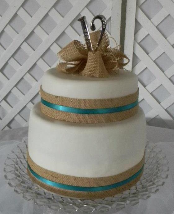 Wedding Cakes With Burlap Ribbon  Southern Blue Celebrations Burlap & Lace Cake Ideas and
