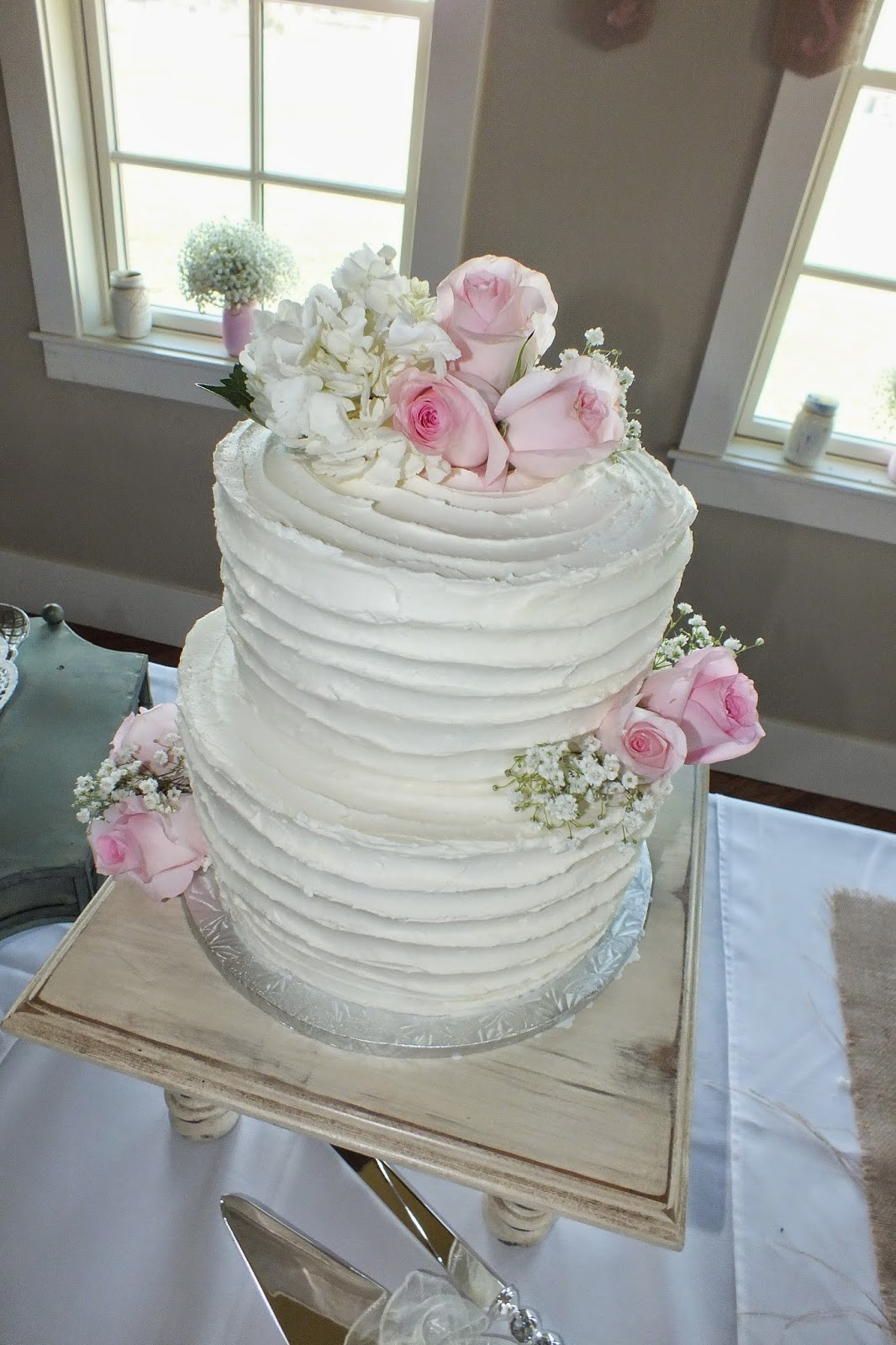 Wedding Cakes With Buttercream Frosting  Sweet Bottom Cakes Textured Buttercream Wedding Cake