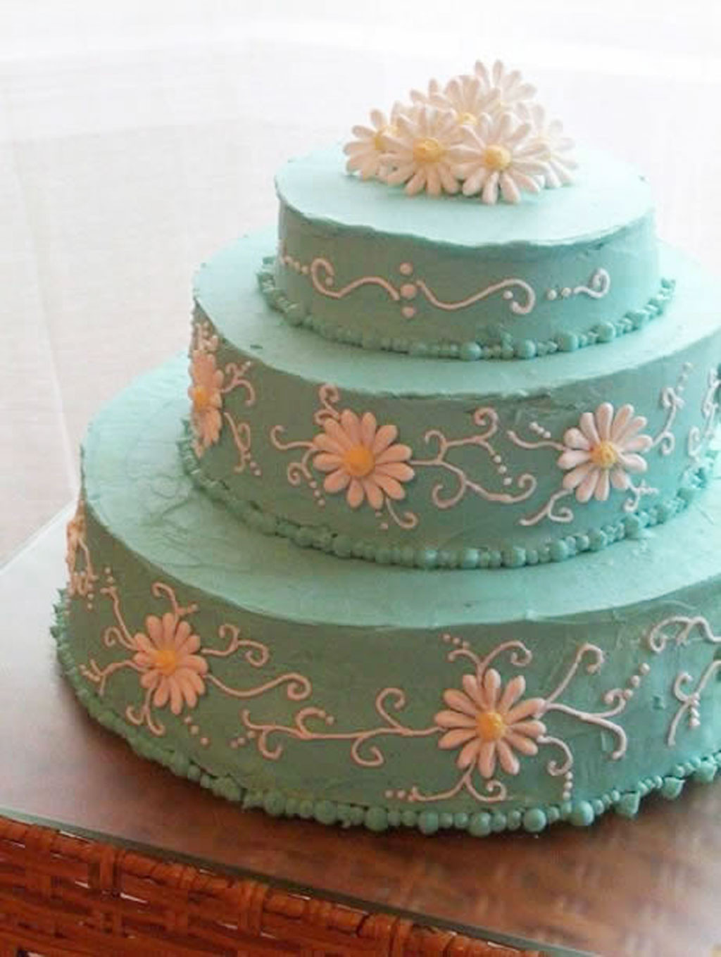 Wedding Cakes With Buttercream Frosting  Blue Buttercream Icing For Wedding Cakes Wedding Cake