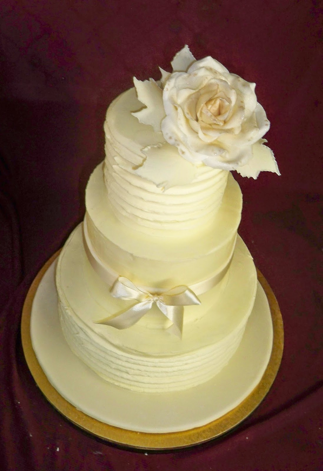 Wedding Cakes With Buttercream Frosting  white buttercream elegant wedding cake