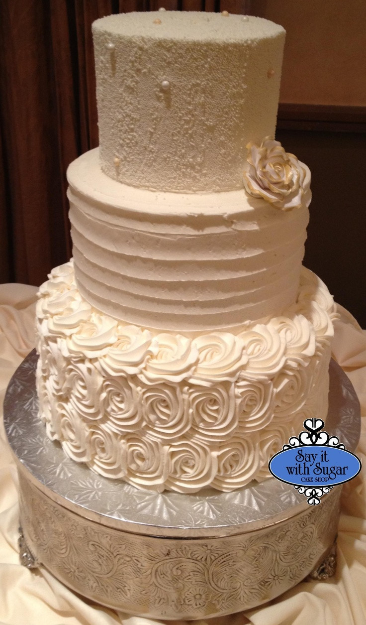 Wedding Cakes With Buttercream Frosting  36 best images about Buttercream cakes on Pinterest